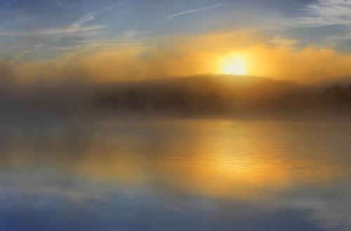 park blue lake mountains price sunrise reflections dawn north ridge national carolina