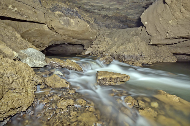 Stream, Big Room Cave, Grundy County, Tennessee