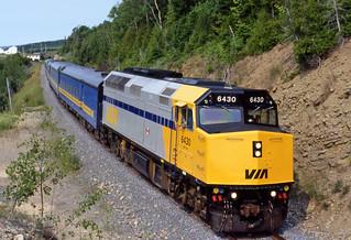 Via Rail Canada # 6430 diesel locomotive (Gascons, Quebec, Canada) (23 or 24 July 1989) 1