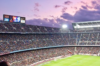 Camp Nou, Barça vs. Málaga | by naotakem