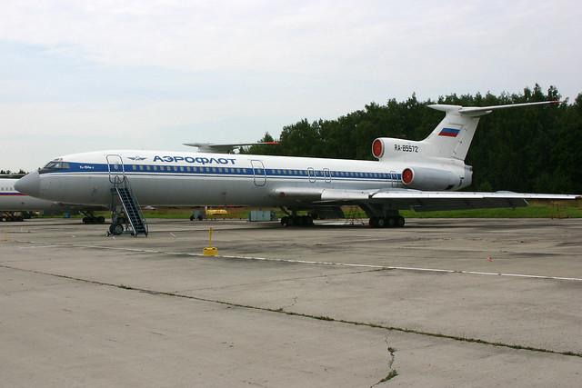RA-85572 Tupolev Tu.154B2 Aeroflot-titles, operated by Russian Airforce @ Chkalovskaya 17-Aug-2009 by Johan Hetebrij