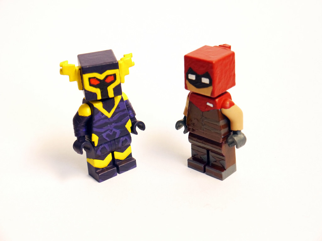 Custom Lego Minecraft Hexxit Armour | Two of the three Hexxi… | Flickr