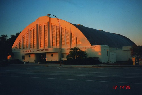 old sunset film architecture evening photo florida dusk 1996 historic government sarasota artdeco fl recreation register vinage municipal attraction streamline nrhp autitorium arema onasill