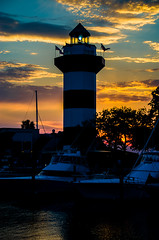 Harbour Town lighthouse at sunset