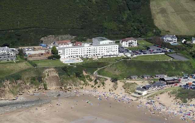 Saunton Sands - North Devon aerial image