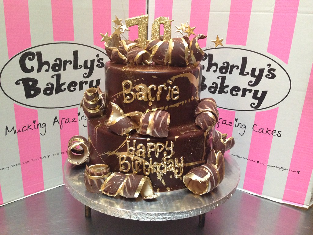 Terrific 2 Tier Wicked Chocolate 70Th Birthday Cake Iced In Chocola Flickr Funny Birthday Cards Online Bapapcheapnameinfo