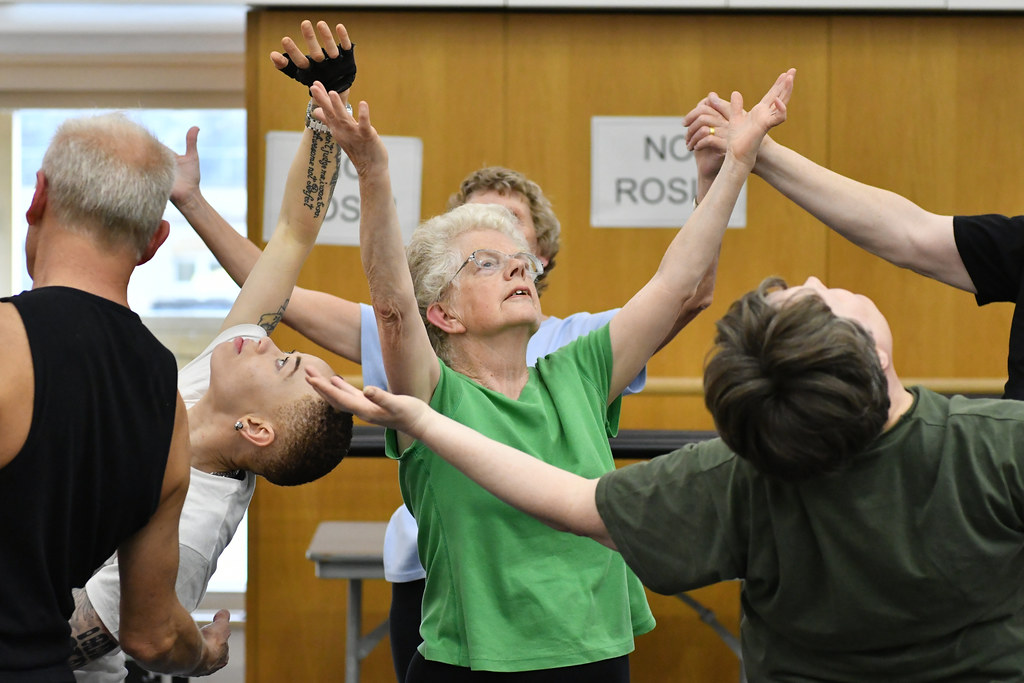 Participants of Monday Moves, ballet classes for blind and visually impaired people © 2016 ROH. Photo by Brian Slater.