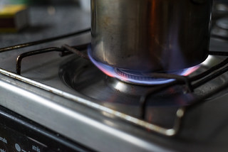 Gas Stove Burner Blue Flame | by themusicianlab