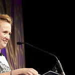 Hollie McNish   McNish performs from her poetry book for parental beginners © Helen Jones