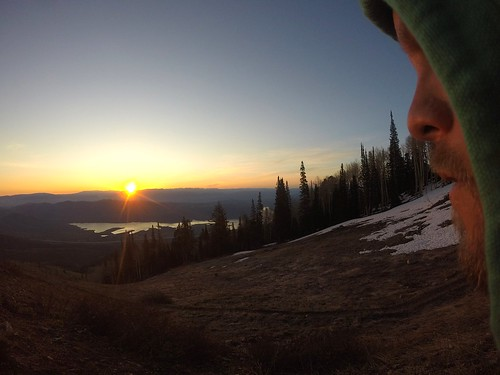nature color mountains morning utah gopro selfie sunrise hiking lake