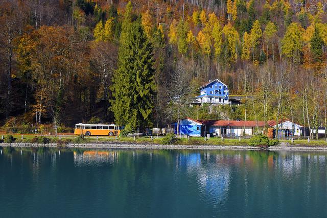 Autumn time in Interlaken , Canton of Bern, Switzerland. No. 1057.