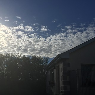 """A Long Straight Line Of """"Clouds"""" Heading Due South"""