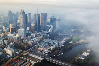 Fog rolling over Melbourne | by Kokkai Ng