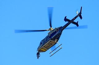 Bell 407 camera mounted forward.