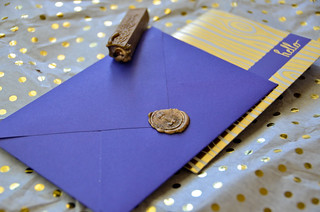 Purple Envelope with Gold Sealing Wax | by osiristhe