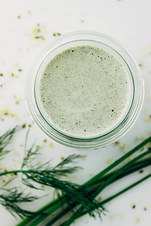 CREAMY LEMON-HERB HEMP DRESSING | by Julie West | The Simple Veganista