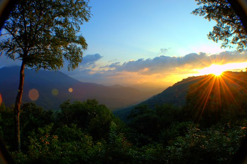 mountain mountains clouds sunrise north foggy carolina smoky