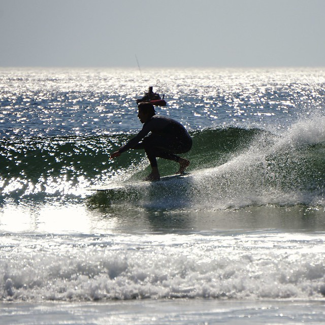 Surfing ortley beach 6/12/2016