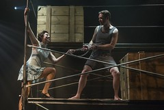Tue, 2016-05-17 14:04 - Houdini risks his life plunging into icy waters encased in chains. Dennis Watkins, Carolyn Defrin.