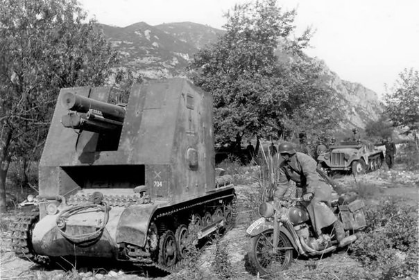 15 cm-es sIG33 L / 12 a Pzkpfw I B változatán.