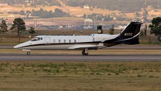 Learjet 60 (N11TS) landing APA