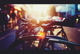 [ Bicycles, bokeh and a sunset  ] 12/365   by chris panas