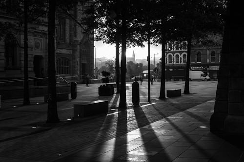 city morning urban bw sunrise square londonderry derry guildhall a5000