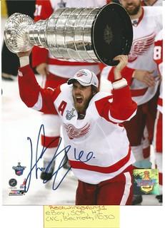 Henrik Zetterberg 07/08 Stanley Cup Signed 8x10 Steiner COA (1)   by Redwingsfan11