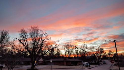 bartlesville cloudsstormssunsetssunrises residential galaxys6 baretrees