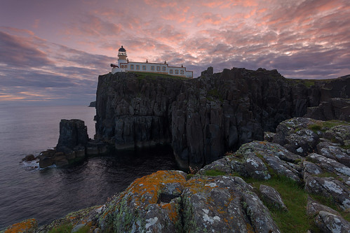 lighthouse skye sunrise point scotland neist 2xp