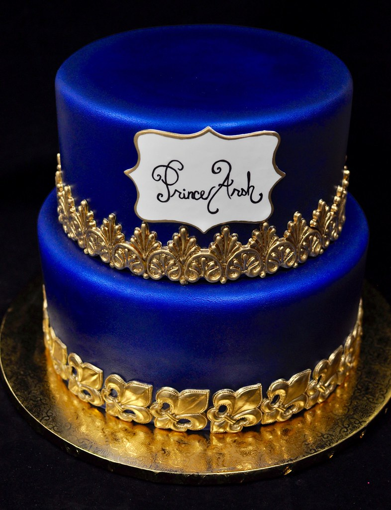 Excellent Prince First Birthday Cake Gold Crown Added Later Flickr Funny Birthday Cards Online Inifodamsfinfo
