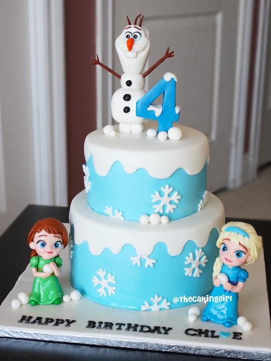 Childhood Frozen Anna Elsa Cake Olaf Figurine Tutorial