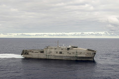 USNS Millinocket (JHSV 3) operates in the Pacific May 28 after departing Hawaii for Pacific Partnership. (U.S. Navy/MC3 William McCann)