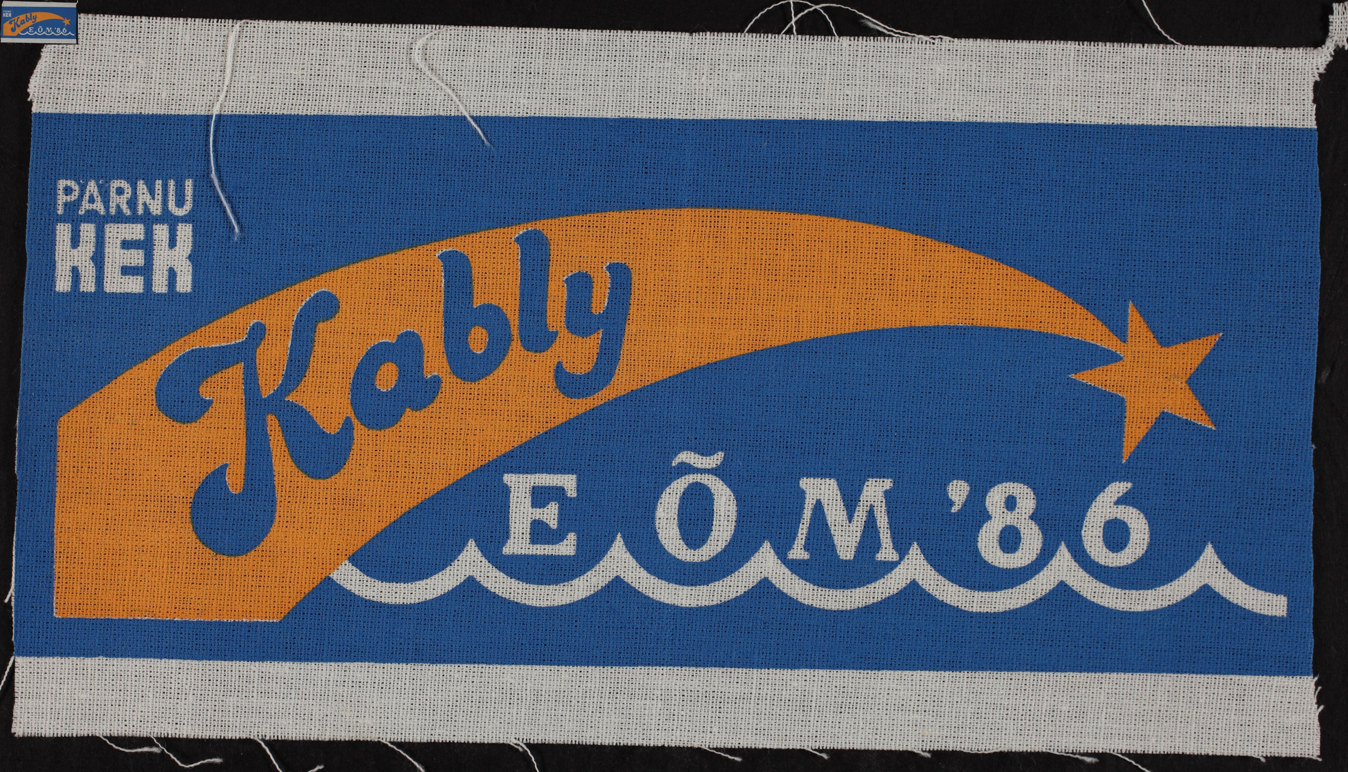 Maleva embleem, Kabli 1986 / Secondary School Students' Building Brigade emblem, Kabli 1986