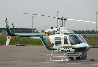 Bell 206 Jetranger D-HSGD @LEJ/EDDP airport