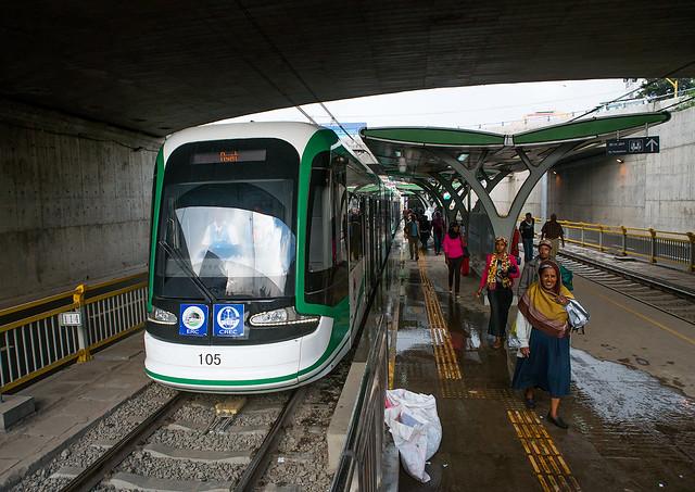 Ethiopian railways constructed by china, Addis abeba region, Addis ababa, Ethiopia