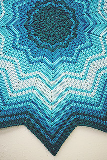 Crochet: Study in Blue, edge | by Lisa | goodknits