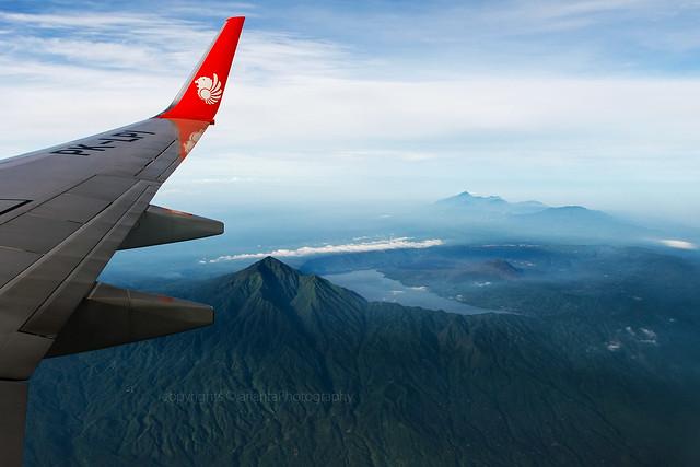 Peak of Mount Batur, and Lake Batur