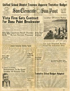 San Clemente Sun Post (front page), 6-28-1966