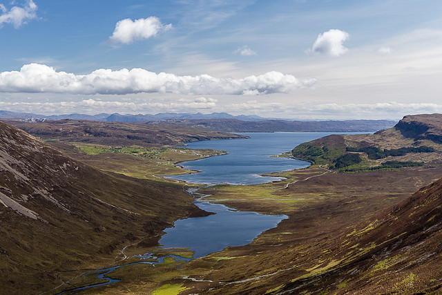 Loch Slapin from the steep sides of Glas Bheinn Mhor [Explore]