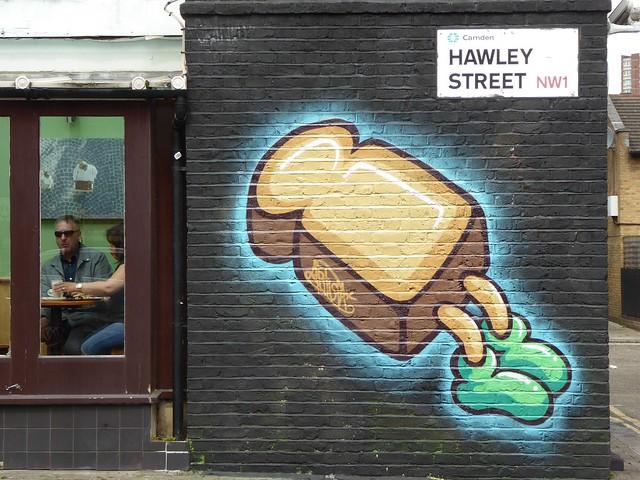 Street art on Hawley Street