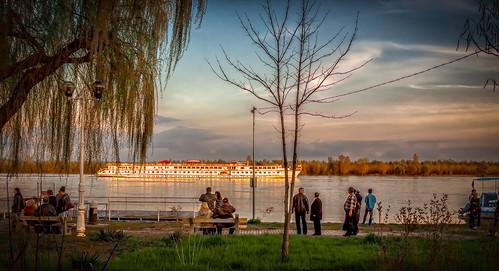 city travel sunset water river europe romania danube esplanada donau braila faleza dunării falezaesplanadabrăila