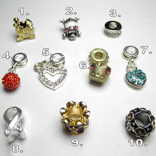 Pandora kristályos gyöngy karkötők, nyakláncok, fülbevalók és gyűrűk készítéséhez.