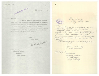 Correspondence regarding height of Lord Kitchener (1913)