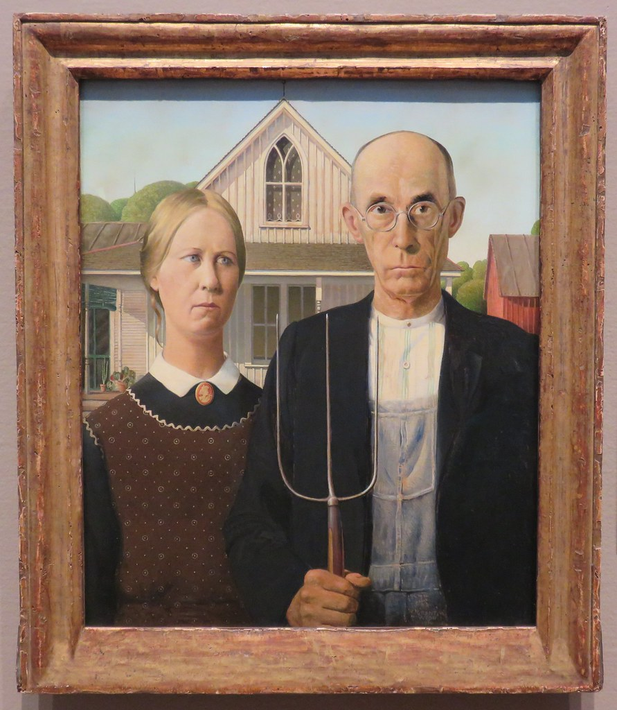 American gothic gotico estadounidense Chicago Art Institute