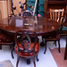 Victorian carved podium dining table
