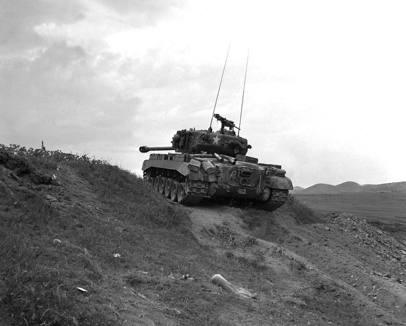 A M26 Pershing during the Korean War