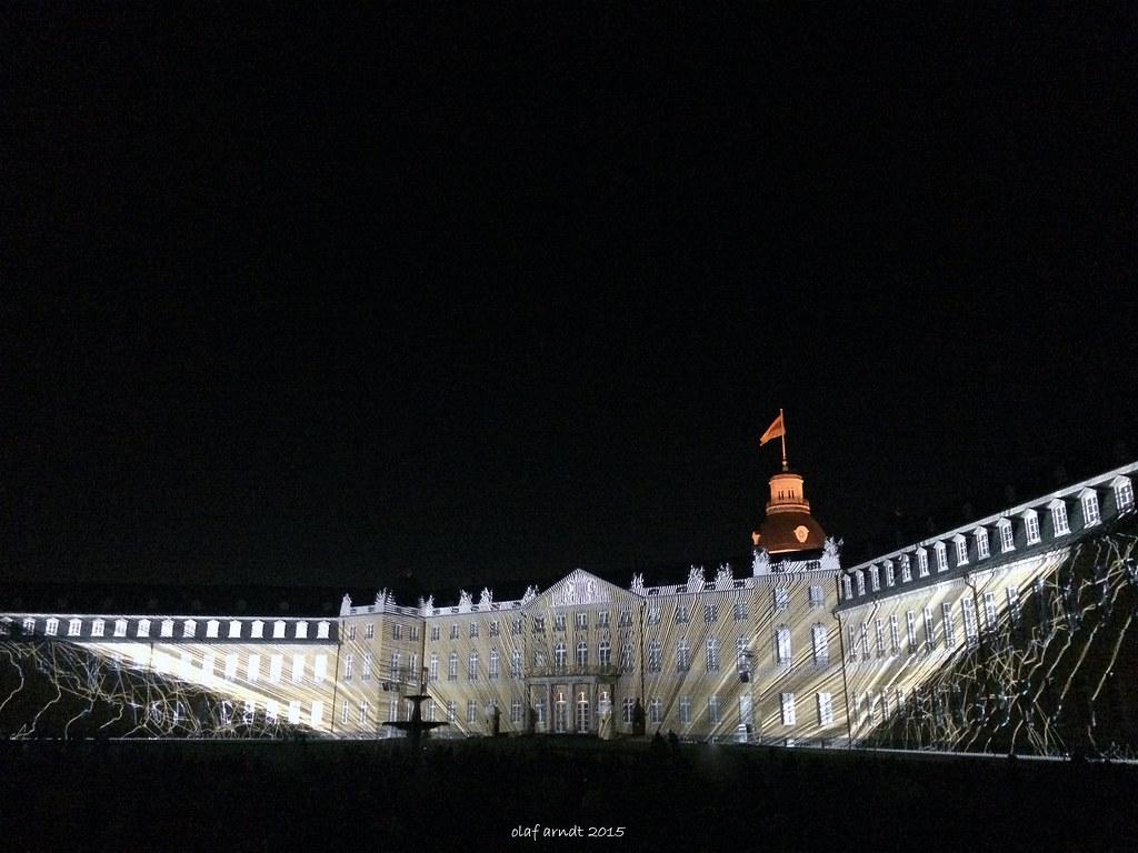 Lichtshow Schloss Karlsruhe