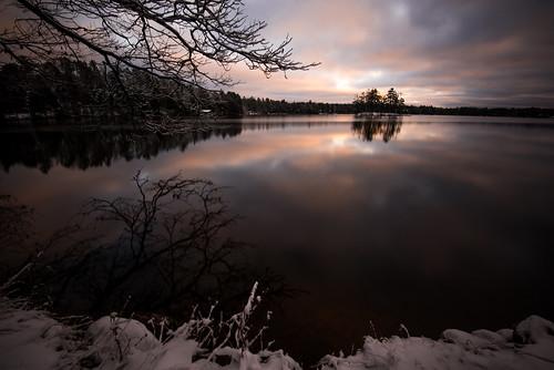 thanksgiving winter sunset lake fall wisconsin evening landscapes serene 30sec nicolet