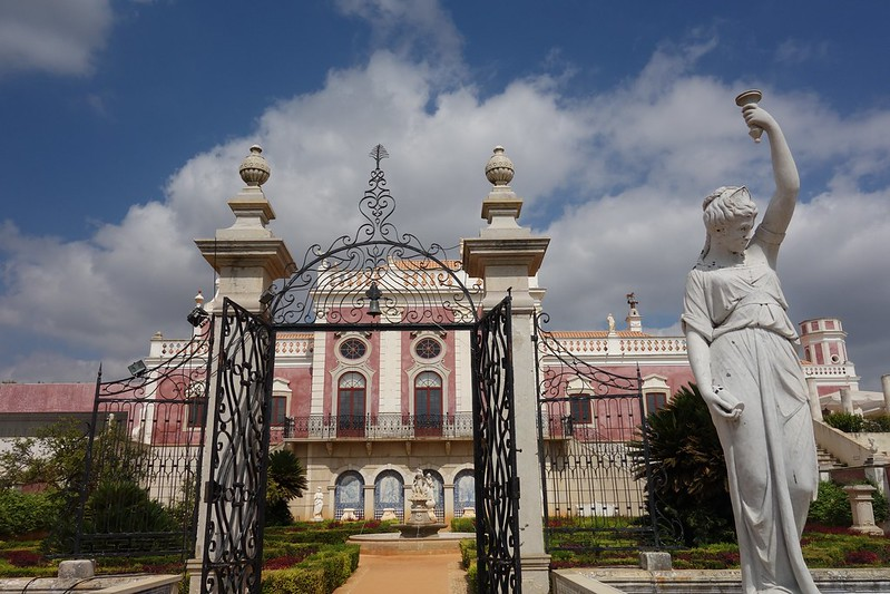 view of Estoi palace grounds gateway